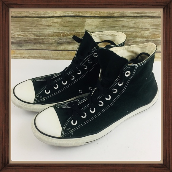 56d60e2369066c Converse Other - Converse Black High Top Sneaker Shoes Size 11 GUC